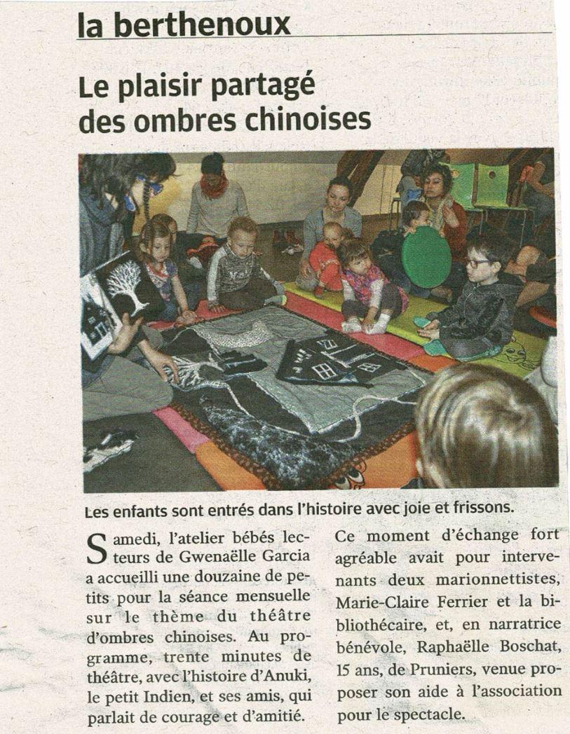 Nouvelle République_atelier bébés lecteurs_050517